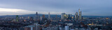 Extreme HiRes Panorama of Frankfurt. Crop where desired. poster
