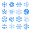 Set of snowflakes. JPEG version.