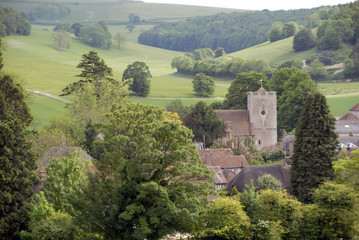 Singleton village in West Sussex England