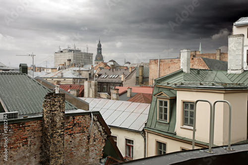 poster of Old Riga rooftops, Latvia