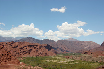 Overlooking part of the Quebrada en Cafayate, Salta, Argentina