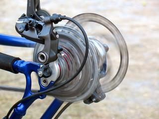 Wheel rotates