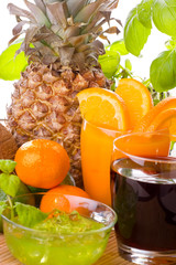 Tropical fruits and drinks