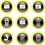 communication icons poster
