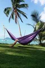 sieste tropicale sous les cocotiers