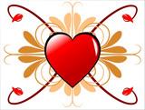 Geometric Valentines Background poster