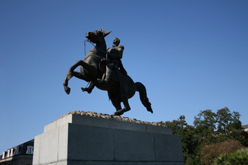 Statue of Andrew Jackson French Quarter New Orleans