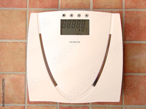 Leinwandbild Motiv Digital bathroom scale