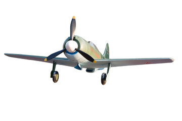 old airplane isolated and with clipping path