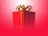 Magical Present. 3D image poster