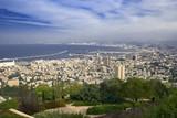 Panorama of Haifa city from Israel poster
