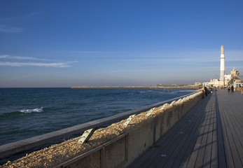 Promenade of Tel Aviv city from Israel