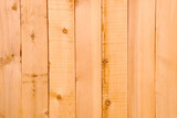 Background image of fresh wood plank fencing. poster