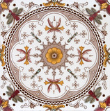 Victorian period decorative arts printed symmetrical poster