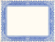 Leinwanddruck Bild - Old Certificate Border