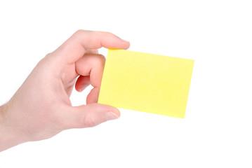 man holding a card