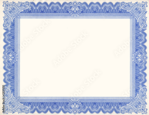 Old Certificate Border - 5835110