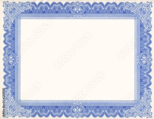 Leinwanddruck Bild Old Certificate Border