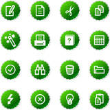 green sticker document icons poster