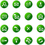 green sticker e-mail icons poster