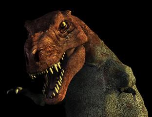 Portrait of a Tyrannosaurus Rex dinosaur - 3D render