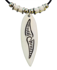 Bone Pendant isolated with clipping path