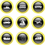 transport icons poster