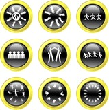 teamwork icons poster