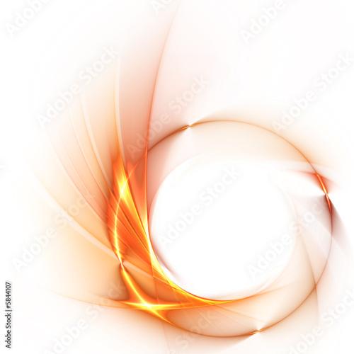 abstrakter Hintergrund mit Feuerring