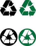 Recycle Symbol Vector Illustration poster