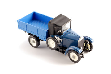 Collection scale model of retro truck The model is made of metal