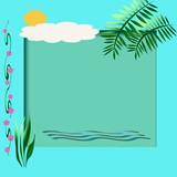 beach scrapbook frame poster