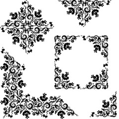 Floral pattern design elements