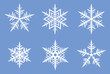 Beautiful snowflakes. JPEG version.
