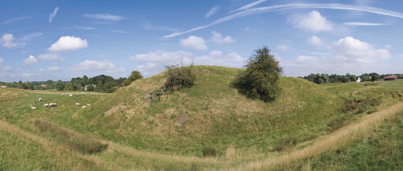 A motte and bailey castle at yelden bedfordshire