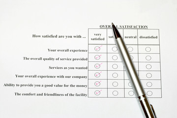 How satisfied are you survey form 2