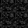 Seamlessly vector wallpaper mathematics on black