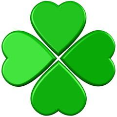 Green 3d lucky clover