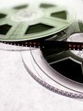 Film reels. Cinema concept poster