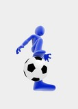 Soccer player, ball view