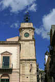 Mafiaort Corleone im Innern von Sizilien. Kirchturm.