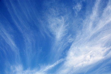 Beautiful blue heavenly and soft cloudy sky