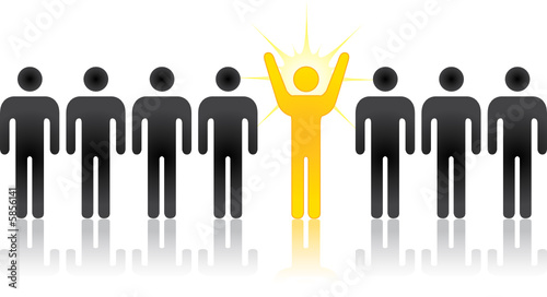 Silhouette people, an individual, innovator, or entrepreneur