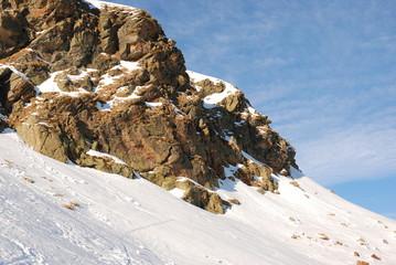 roccia e neve