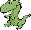 cute T-Rex dinosaur vector illustration