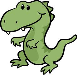 cute T-Rex dinosaur vector illustration