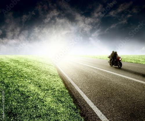 Fototapete Moped - Motorroller - Motorrad - Poster - Aufkleber