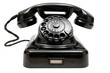 Leinwanddruck Bild - Old Phone
