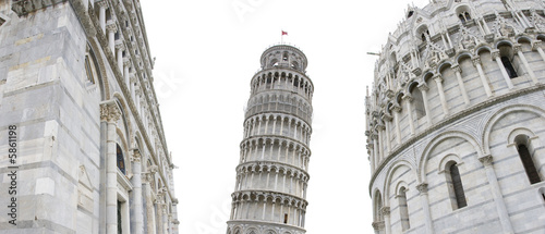 original view of the leaning tower
