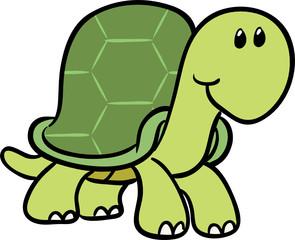 cute turtle vector illustration